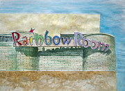 Amusements Drawings Posters - The Rainbow Room Poster by Patricia Arroyo