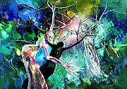 Religious Art Mixed Media Prints - The Raising of Lazarus Print by Miki De Goodaboom