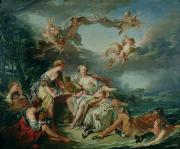 Jupiter Posters - The Rape of Europa Poster by Francois Boucher
