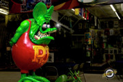 Ed Roth Prints - The Rat King Print by Krawdaddy Hot Rod Photography