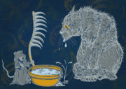 Animal Humor Prints - The Rat Reaper Print by Laura Brightwood