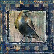 Raven Mixed Media Prints - The Raven Print by Arline Wagner