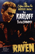 Lugosi Photos - The Raven, Boris Karloff, Bela Lugosi by Everett