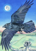 Healing Paintings - The Raven  by Antony Galbraith
