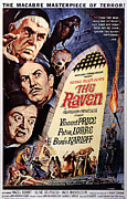 Horror Movies Photos - The Raven, Peter Lorre, Boris Karloff by Everett