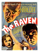 Edgar Allan Poe Photos - The Raven, Top Boris Karloff Bottom by Everett