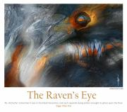 Surrealism Framed Prints - The Ravens Eye Framed Print by Bob Salo