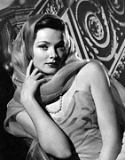 Covered Head Framed Prints - The Razors Edge, Gene Tierney, 1946 Framed Print by Everett