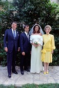 First Ladies Framed Prints - The Reagan Family At Patti Daviss Framed Print by Everett