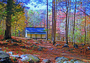 Roaring Fork Road Art - The Reagan House by Paul Mashburn