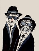 Blues Painting Originals - The Real Blues Brothers by Connie Valasco