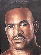 Heavyweight Paintings - The Real Deal - Evander Holyfield by Kenneth Kelsoe