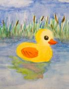 Duck Paintings - The real rubber duck by Paul Bartoszek