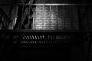 Stair-rail Photos - The Rear Window - BW - 7D17463 by Wingsdomain Art and Photography