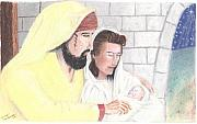 Nativity Pastels - The Reason for the Season by Shawn Sanderson