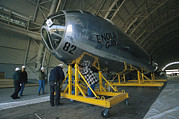 World Wars Posters - The Reassembled Enola Gay At Its New Poster by O. Louis Mazzatenta
