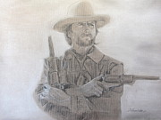 Clint Drawings - The Rebel Wales by Sheila Gunter