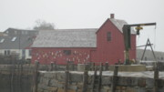 Rockport  Ma Paintings - The Red Barn at Rockport MA by Marc Sevigny