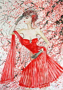 Phong Trinh Metal Prints - The Red Blossom Metal Print by Phong Trinh