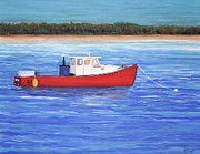 Rides Painting Originals - The Red Boat by Reb Frost