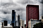 Chicago Skyline Photos - The Red Building by Emily Stauring