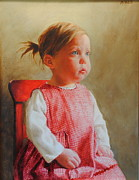 Kathy Morris Paintings - The Red Chair by Kathy Morris