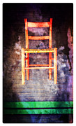 Cedarburg Prints - The Red Chair Print by Mary Machare