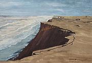 North Sea Paintings - The red Clip at Sylt by Antje Wieser
