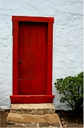 Entrance Door Art - The Red Door by Karon Melillo DeVega