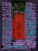 Entrance Door Digital Art Posters - The Red Door Poster by Tim Allen