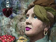 "\""once Upon A Time\\\"" Digital Art - The Red Heart Of A Stone Lady by Nafets Nuarb"
