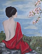 Kim Selig Metal Prints - The Red Kimono Metal Print by Kim Selig