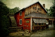 Grist Mill Art - The Red Mill by Joel Witmeyer