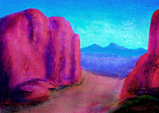 Foothills Pastels - The Red Rocks by David Wiles
