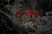 Gatlinburg Tennessee Posters - The Red Roof Poster by DigiArt Diaries by Vicky Browning