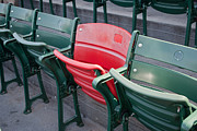 Boston Red Sox Framed Prints - The Red Seat Framed Print by Joseph Maldonado