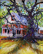 Gullah Paintings - The Red Store by Gertrude Palmer