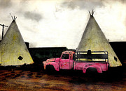 Tipis Posters - The Red Truck Poster by JDon Cook