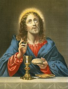 Bible Painting Prints - The Redeemer Print by Carlo Dolci