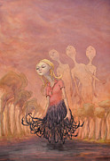 Surrealism Drawings Originals - The Redhook Princess by Ethan Harris