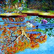 Lily Pond Originals - The Reflections of Fall by John Lautermilch