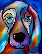 Cityscapes Mixed Media Prints - The Regal Beagle - Dog Pop Art by Fidostudio Print by Tom Fedro - Fidostudio