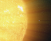 Scale Digital Art - The Relative Sizes Of The Sun by Stocktrek Images