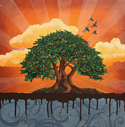 Drips Paintings - The Relaxation Tree by Lance Berka