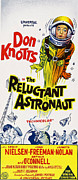 1960s Poster Art Framed Prints - The Reluctant Astronaut, Upper Right Framed Print by Everett