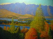 Terry Perham Art - The Remarkables Autumn by Terry Perham