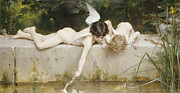 Pond Painting Prints - The Rescue Print by Emile Munier