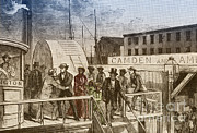 Confederacy Framed Prints - The Rescue Of Jane Johnson And Her Framed Print by Photo Researchers