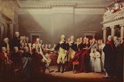 Politician Painting Posters - The Resignation of George Washington Poster by John Trumbull