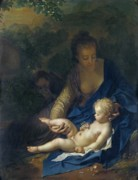 Son Of God Paintings - The Rest on the Flight into Egypt by Adriaan van der Werff
